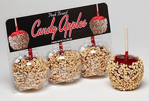 Candy Apples with Nuts