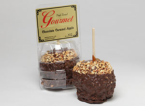 Gourmet Chocolate Caremel Apples with Nuts